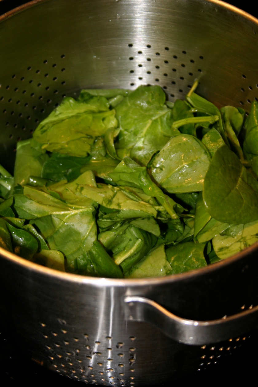 a pound of spinach