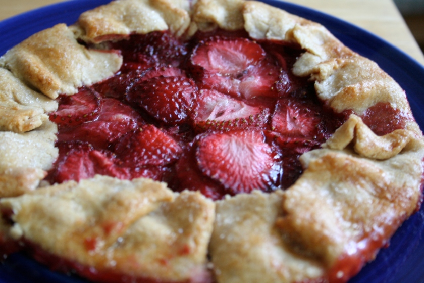 strawberry tart done