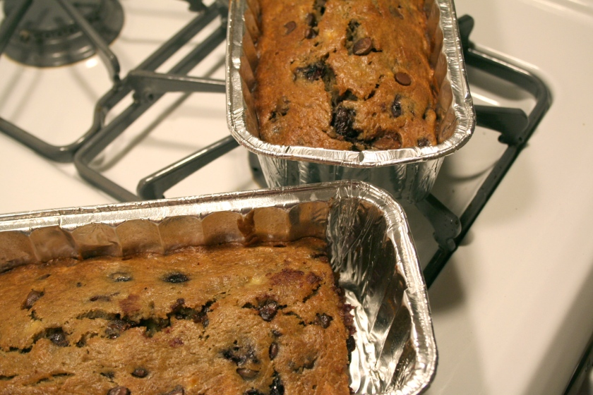 cherry chocolate banana bread 5