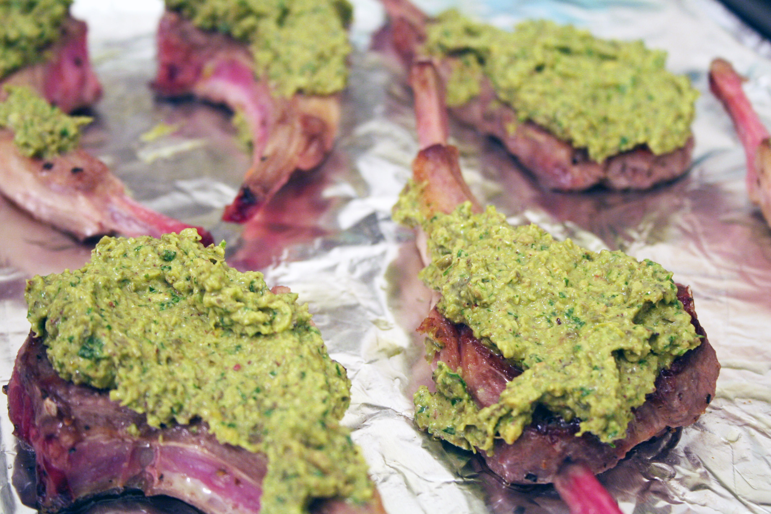 lamb chops lamb chops with pistachio tapenade marinated lamb chops